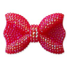 44mm RED Sparkling Kawaii Bow Flatback Cabochon